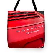 Red Porsche 911 Detail E183 Tote Bag