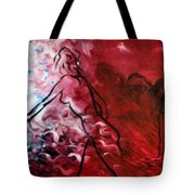 Red Psychological State Tote Bag