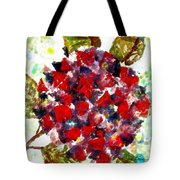 Red Purple Flower Tote Bag