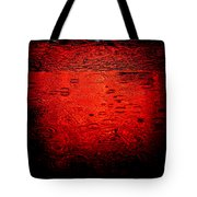 Red Rain Tote Bag by Dave Bowman