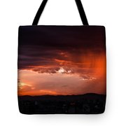 Red Rain Over Tana Tote Bag