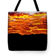 Red Rays Tote Bag