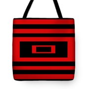 Red Rectangle Tote Bag