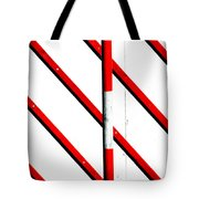 Red Red Line Tote Bag