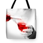 Red Red Wine Tote Bag by Jenny Rainbow
