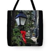 Red Ribbon Christmas Tote Bag