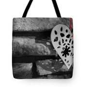 Red Ribbon Heart Tote Bag