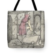 Red Riding Hood-one Month Later Tote Bag