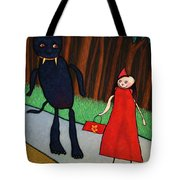 Red Ridinghood Tote Bag by James W Johnson