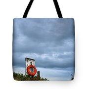 Red Ring Life Preserver Hanging Tote Bag