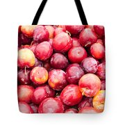 Red Ripe Plums Tote Bag
