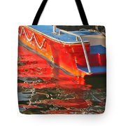 Red Rippling Tote Bag