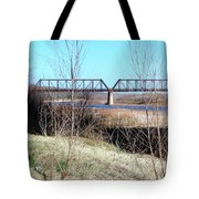 Red River I 35 Train Trussell Tote Bag