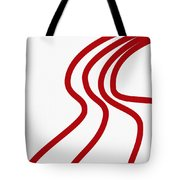Red River On White Tote Bag