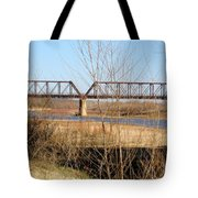 Red River Train Trussell Tote Bag