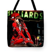 Red Robot On A Saturday Night  Tote Bag by Bob Orsillo