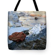 Red Rock And Crystal Water Tote Bag