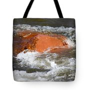 Red Rock And Water Splash Tote Bag