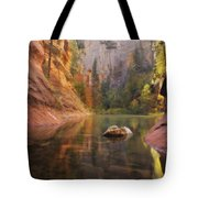 Red Rock Autumn Tote Bag by Peter Coskun