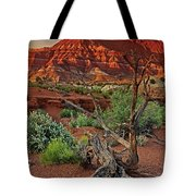 Red Rock Butte And Juniper Snag Paria Canyon Utah Tote Bag