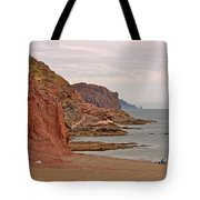 Red Rock By Sea Of Cortez From San Carlos-sonora Tote Bag