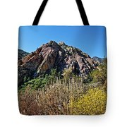 Red Rock Canyon With Foliage Tote Bag