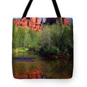 Red Rock Crossing Reflections Tote Bag