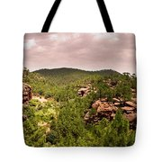 Red Rock Green Forest No2 Tote Bag