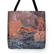 Red Rocks Amphitheater On Fire Tote Bag