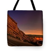 Red Rocks Amphitheatre At Night Tote Bag