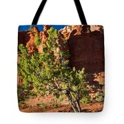 Red Rocks And Tree 1 Tote Bag