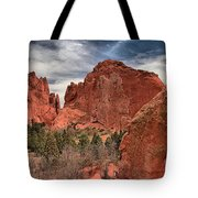 Red Rocks At Garden Of The Gods Tote Bag