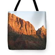 Red Rocks Of Zion Park Tote Bag