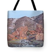 Red Rocks Panorama 1 Tote Bag