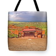 Red Rocks Park Amphitheater - Centered View Tote Bag