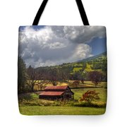Red Roof Barn Tote Bag