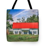 Red Roof Charm Tote Bag