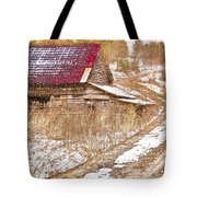 Red Roof In The Snow  Tote Bag