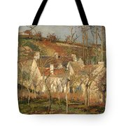 Red Roofs In A Village In Winter Tote Bag