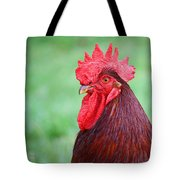 Red Rooster Portrait Tote Bag