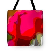 Red Rose Abstract Tote Bag