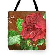 Red Rose Autumn Texture Thank-you  Tote Bag