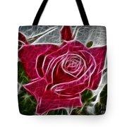 Red Rose Expressive Brushstrokes Tote Bag