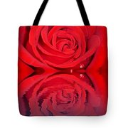 Red Rose Reflects Tote Bag