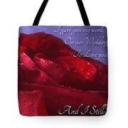Red Rose Romantic Greeting Card Tote Bag