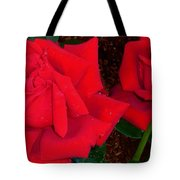 Red Rose Twins  Tote Bag