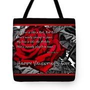 Red Rose Valentine Tote Bag