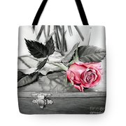 Red Rosebud Tote Bag