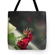 Red Roses And Visitor Tote Bag