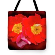 Red Roses Heart Tote Bag